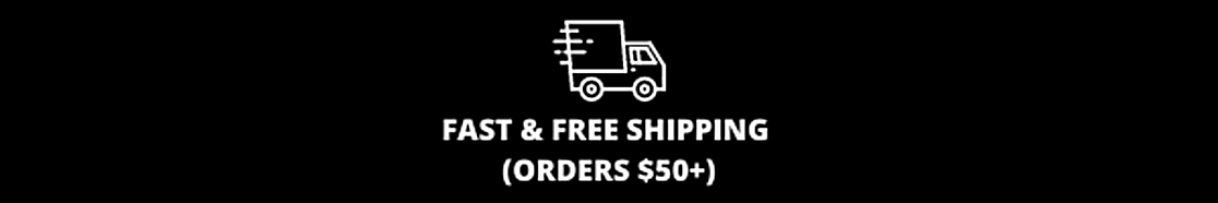 FAST & FREE GROUND SHIPPING ON ORDERS OVER $50.V2